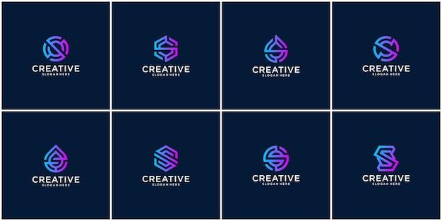 Eerste set s-logo-ontwerpinspiratie