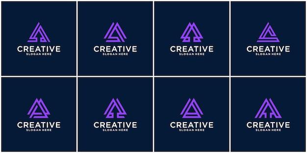 Eerste set van a-logo-inspiratie
