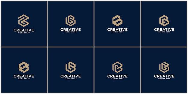 Eerste set van b-logo-ontwerpinspiratie
