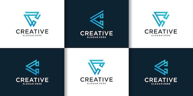 Eerste set van c logo-ontwerpinspiratie