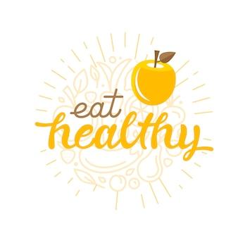 Eet gezond - motiverende belettering citaat