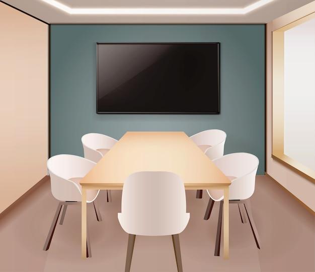 Eetkamer of kantoorillusratie