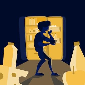 Eetstoornis concept. probleem met eten en gewicht