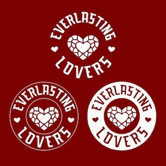 Eeuwige liefhebbers badge logo-ontwerp