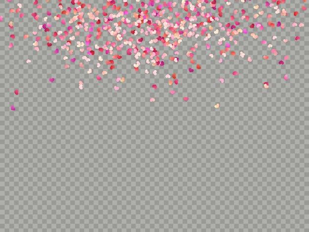 Effect valentines confetti makkelijk te gebruiken.