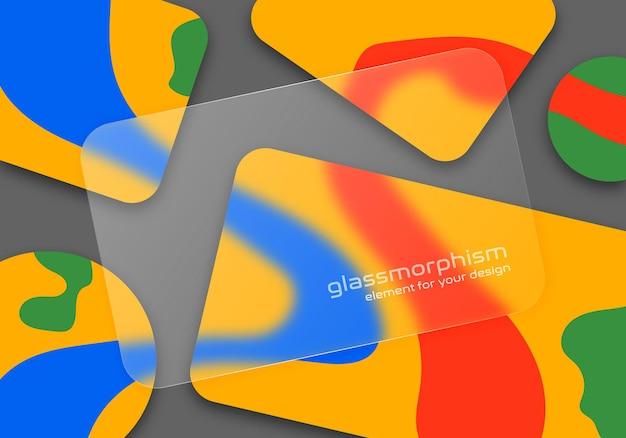 Effect van matglas. glasmorfisme stijl.