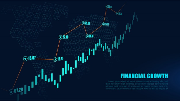 Effectenbeurs of forex handelgrafiek in grafisch concept