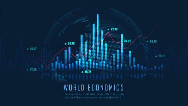 Effectenbeurs of forex trading grafiek achtergrond