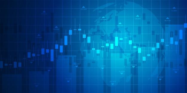 Effectenbeursgrafiek of forex handelgrafiek voor bedrijfs en financiële concepten