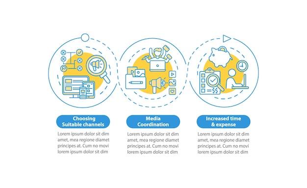 Effectieve digitale marketing infographic sjabloon