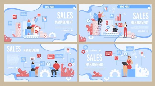 Effectieve set van bestemmingspagina's voor verkoopbeheerontwerp