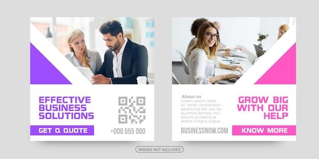 Effectieve zakelijke oplossingen social media post tempaltes
