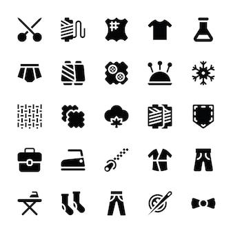 Effen pictogrammen naaien en naaien