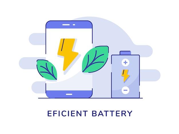 Efficiënte smartphone met bliksemschicht op batterijen