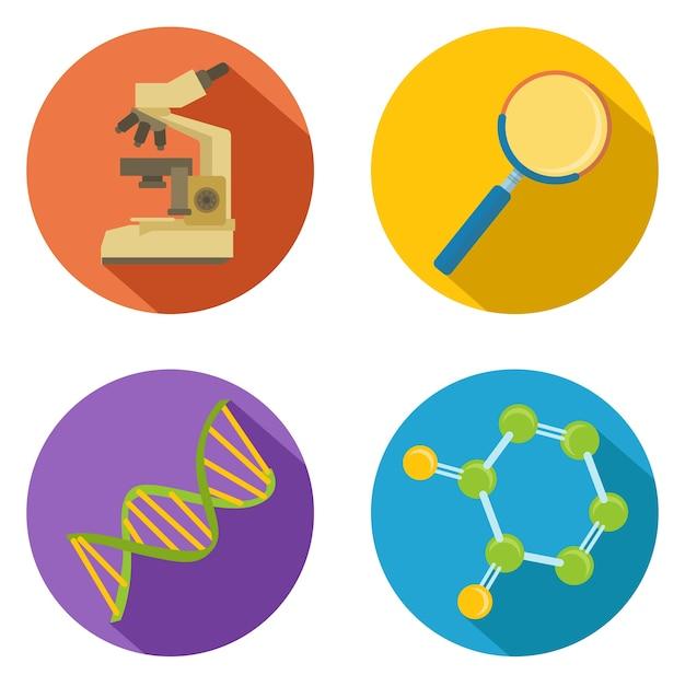 Egale kleur vector chemisch pictogram