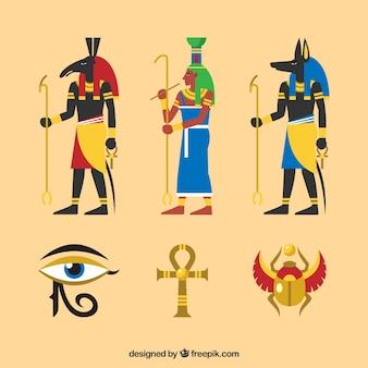 Egypte goden en symbolen instellen