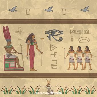 Egypte hiërogliefen achtergrond