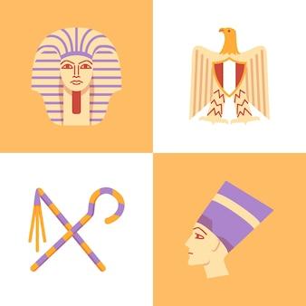 Egypte in vlakke stijl