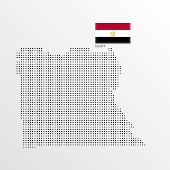 Egypte kaart ontwerp met vlag en lichte achtergrond vector