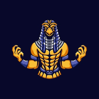 Egypte mensen mascotte logo