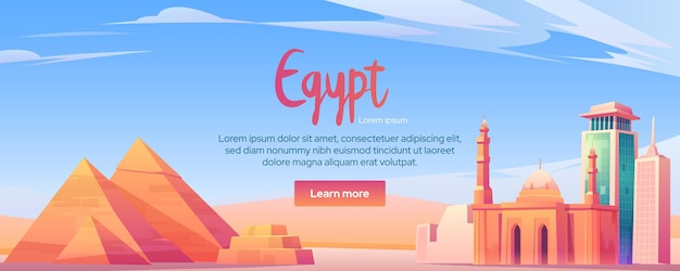 Egypte oriëntatiepunten banner