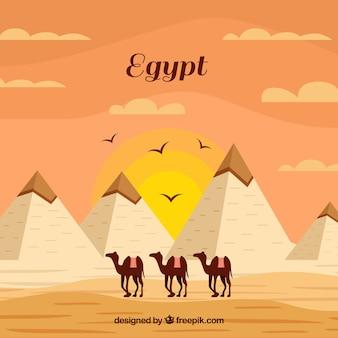 Egypte piramids achtergrond