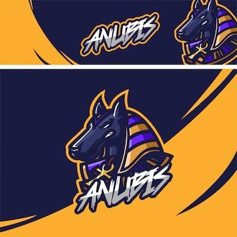 Egyptisch anubis premium mascotte-logo