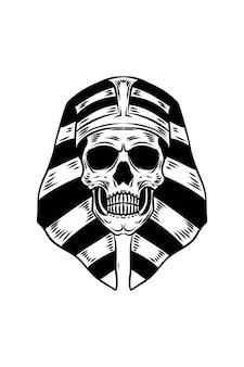 Egyptische heer schedel vectorillustratie