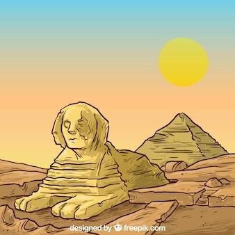 Egyptische piramides illustratie