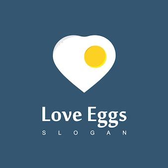 Ei logo ontbijt symbool