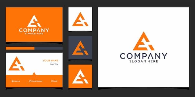 Ei-logo-ontwerp met visitekaartjesjabloon