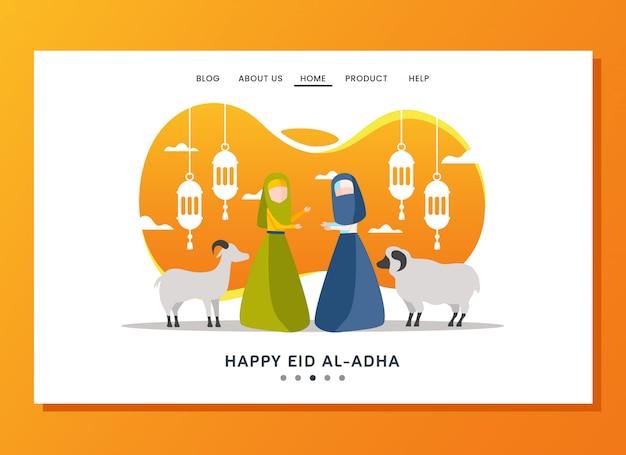 Eid al adha-bestemmingspagina-concept