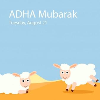 Eid al-adha het offer om te rammen of schapen