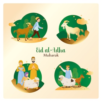 Eid al-adha in een set pakketten
