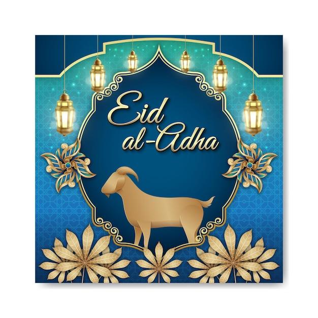 Eid al adha islamitisch illustratieconcept