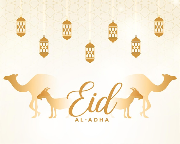 Eid al adha-kaart voor moslimfestival