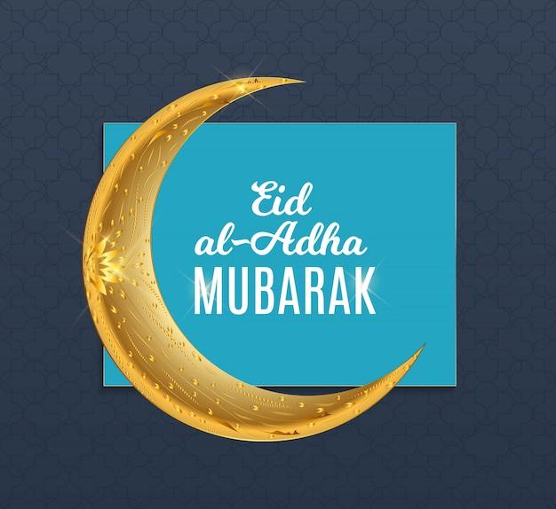 Eid al-adha, kurban bayrami moslim offerfeest. vector illustrator