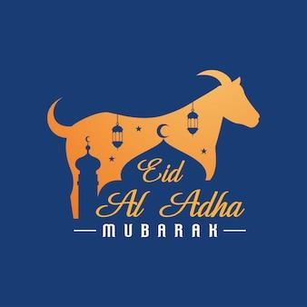 Eid al adha mubarak achtergrond met geit