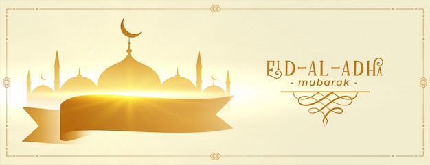 Eid al adha mubarak festival bannerontwerp