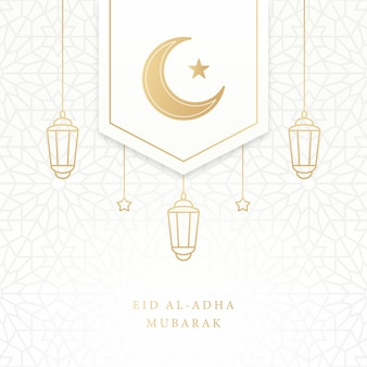 Eid al adha mubarak islamitische wenskaart