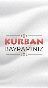 Eid-al-adha mubarak moslim vakantie banner kurban bayraminiz poster wenskaart