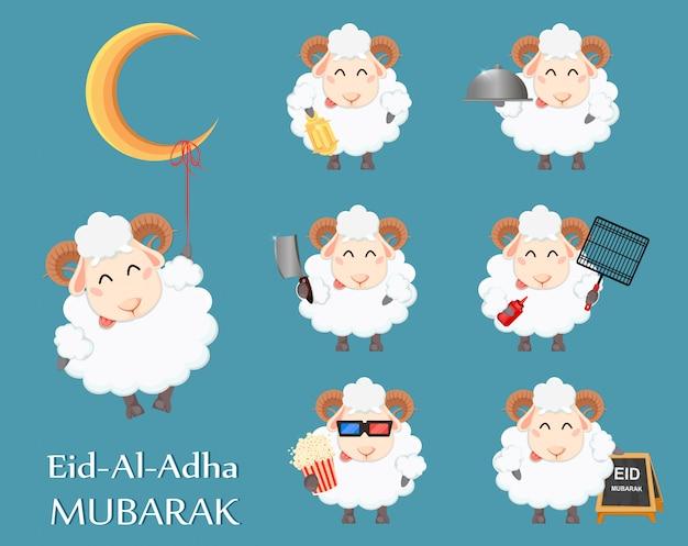 Eid al adha mubarak-wenskaart
