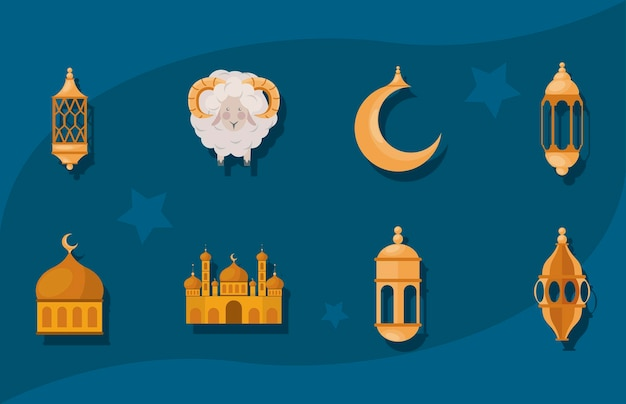 Eid al adha-pictogrammen