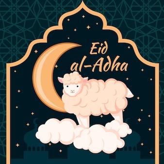 Eid al-adha viering illustratie