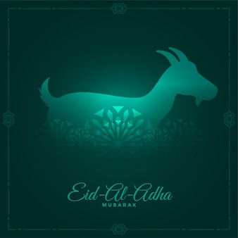 Eid al adha wenskaart in glanzende stijl