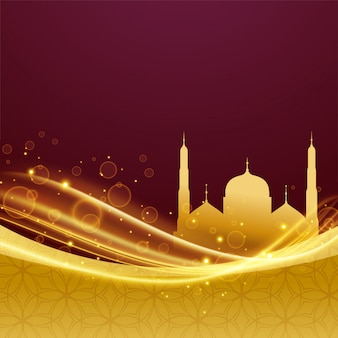 Eid en ramadan festivalontwerp met lichteffect