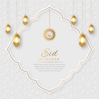 Eid mubarak arabische elegante luxe sier islamitische wenskaart