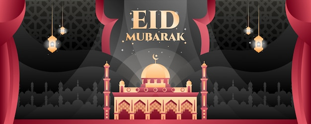 Eid mubarak-banner
