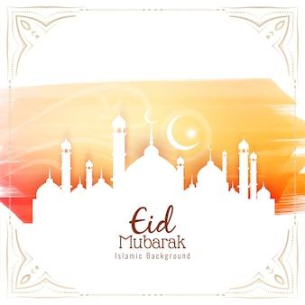 Eid mubarak-festivalgroetachtergrond