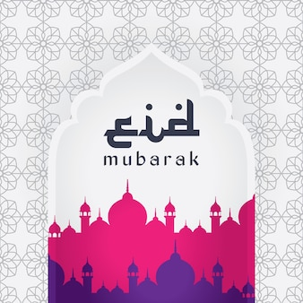 Eid mubarak, groet achtergrond. eid mubarak religieus achtergrondontwerp